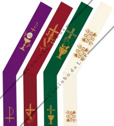 Conjunto de estolas diaconais - 4 cores